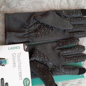 💥NWT💥Touchscreen Gloves Ladie's M Gray Palm Grip